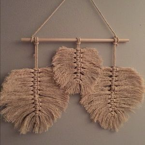 Other - Wall hanging feather macrame
